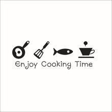 Cartoon enjoy cooking time kitchen Wall Sticker