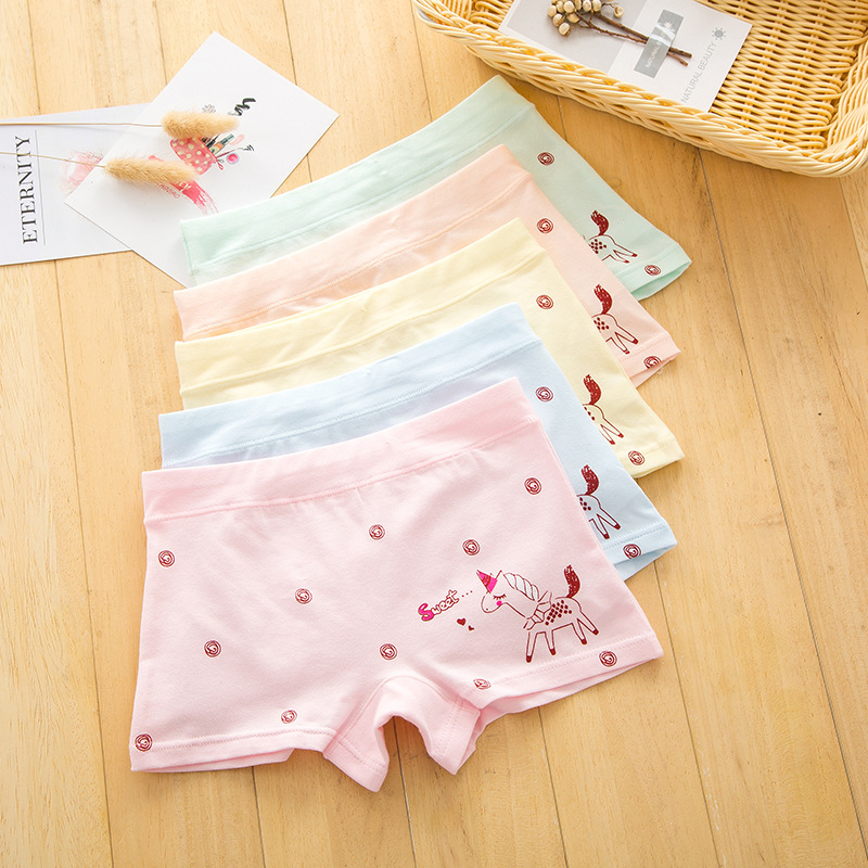 2021 hot sales Girl underwear Free shipping new arrived kids horse boxer short children panties 5pcs/lot 1-11y baby cotton 1