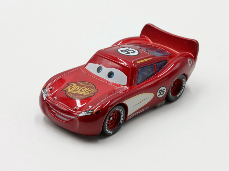 Disney 7 Cm Toy Car Model McQueen Classic Toy Magenta Color Cars Alloy Model Toys Action Finger for Childrens Birthday Gift