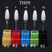 купить 1Pc Milling Cutter Ceramic Nail Drill Bits Electric Drill Manicure Cutter Nail Bit Machine Accessories Drill Nail Art Tools TH09 дешево