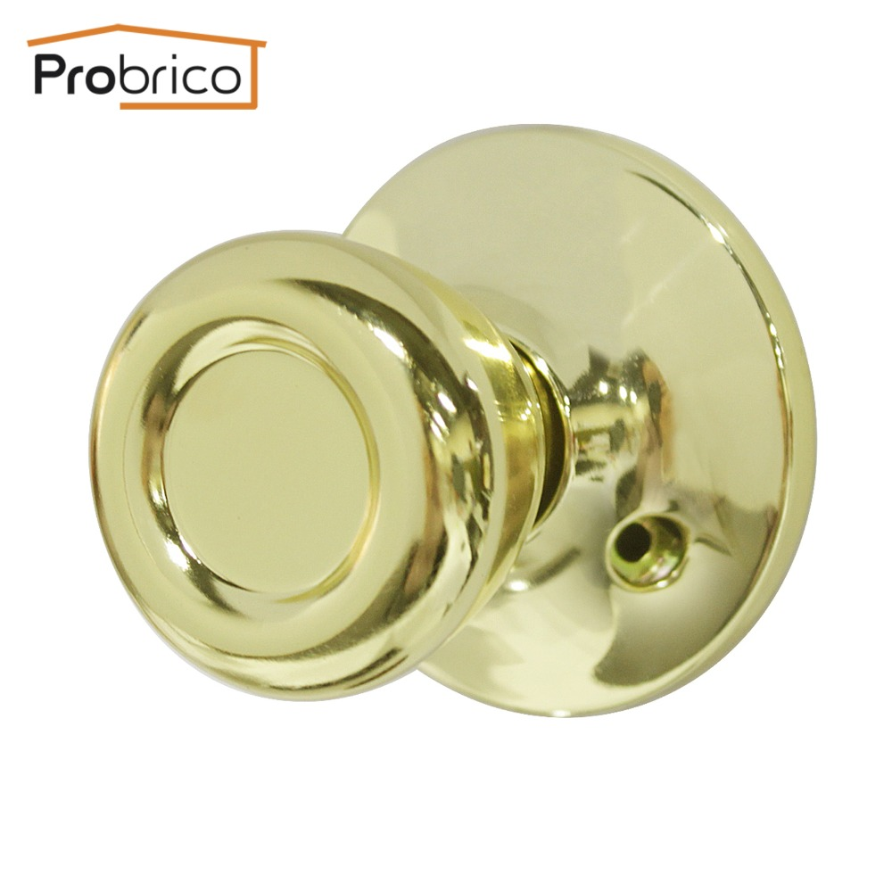 Probrico Wholesale 10 PCS Door Knob Stainless Steel Tulip Style Gold Half-Dummy Door Handle For Interior Door DL576PBDM цена и фото