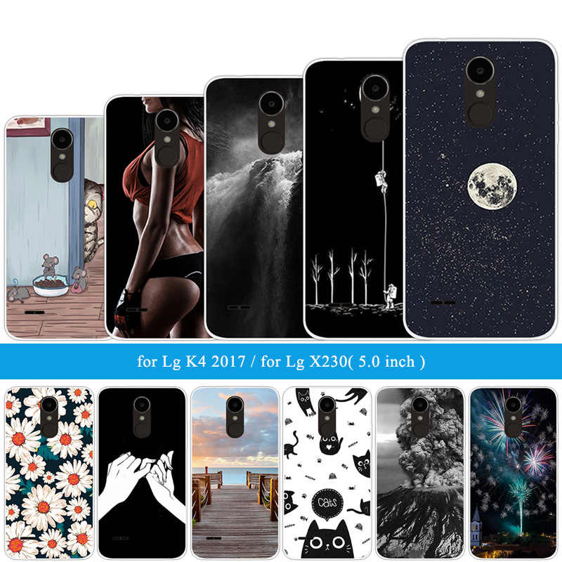 "Cover For LG X230 Soft Silicone Protector Back Cases For LG K4 2017 European Version Hoesjes 5.0"" Wooden Phone Case fu306"