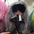 Gray hair Karl doll handbag charm New eye monster luxury lady bag charm keychain fur Key ring golf lambskin fashion gift