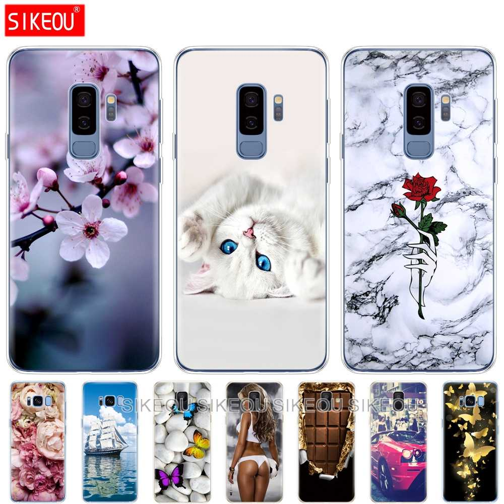 Silicone phone case cover for Samsung Galaxy A6 A8 2018 S8 S9 PLUS back cover A600 A605 A530 A730 cases bumper Coque etui new