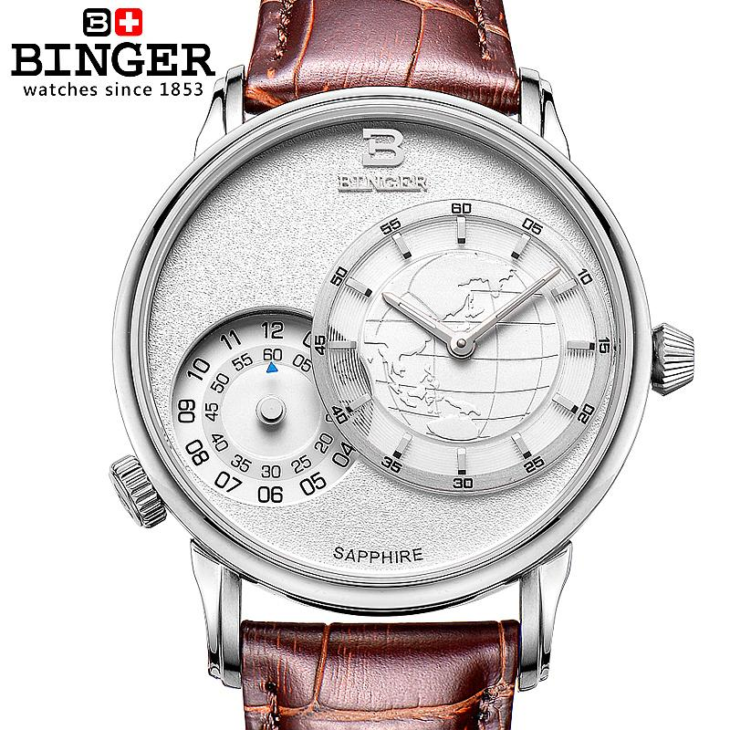 Switzerland watches men luxury brand Wristwatches BINGER 18K gold quartz leather strap waterproof BG-0389-A6 wristwatches luxury brand men quartz gold watch sapphire leather strap watches men 12 month guarantee bg0389