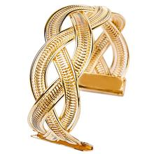 BONLAVIE 1 Piece 2017 Vintage Luxury Fashion Women's Punk Wide Gold Color Charm Cuff Bangle Bracelet Jewelry in Wholesale