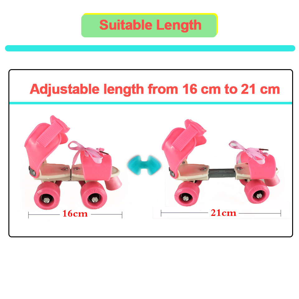 Image 2 - Children Two Lines Roller Skates Double Row 4 Wheel Skating Shoes Adjustable Size Sliding Inline Patines En Linea Kids'Gift IB02-in Skate Shoes from Sports & Entertainment