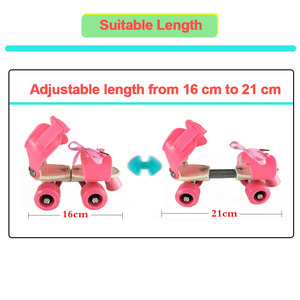 Image 2 - Kinder Zwei Linien Rollschuhe Zweireihig 4 Rad Skating Schuhe Einstellbare Größe Schiebe Inline Patines En Linea KidsGift IB02