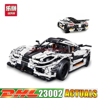 2017 DHL 3136Pcs Lepin 23002 Technic Series The MOC 4789 Changing Racing Car Set Children Building