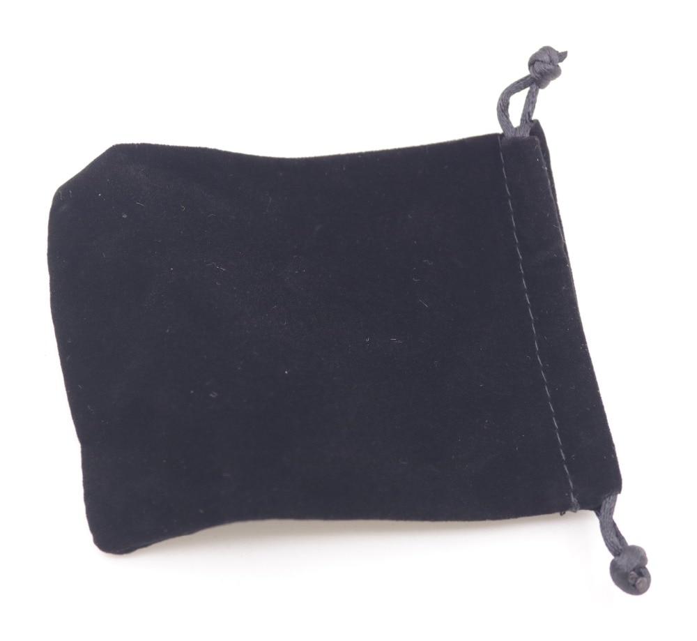 1 PCS Black Velvet Jewelry Gift Bag Pouch Drawstring Pouches Handmade 9X12cm