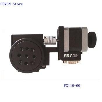 PDV Новый PX110-60Motorized Стадия вращения, моторизованный вращающийся этап, оптическая вращающаяся платформа, диаметр 60 мм подшипник