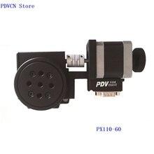 PDV Новый PDV PX110-60 моторизованный вращающийся этап моторизованный Стадия вращения, оптический вращающийся платформа, диаметр 60 мм подшипник