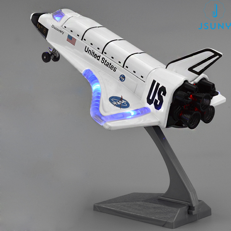 Die Cast Space Craft Alloy Pull Back/Sound/Light Columbia Spacecraft Model Space shuttle Spaceport Knowledge Toys Gift