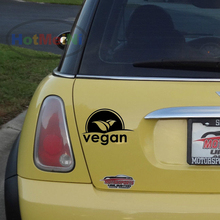VEGAN leaves logo car window decal sticker / 13 colors