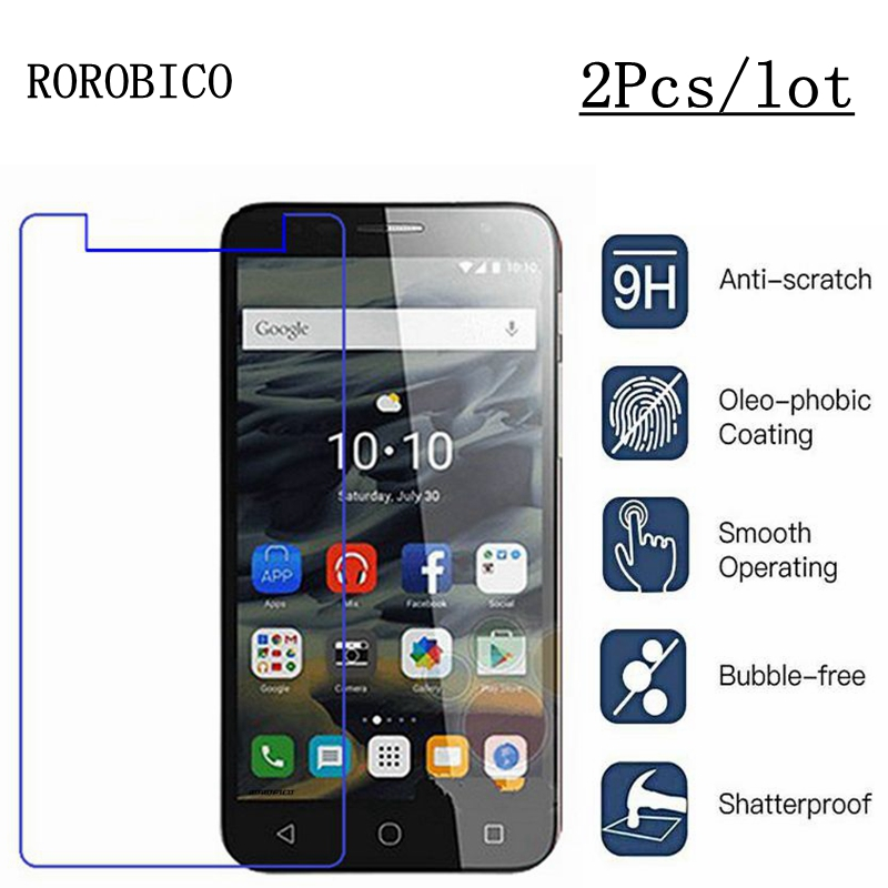 Premium 9H HD Slim Real Tempered Glass Screen Protector For Alcatel Smart Phone