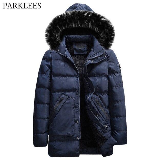 haute qualité vente professionnelle prix d'usine US $52.42 20% OFF|Aliexpress.com : Buy Fashion Winter Parka Men Thicken  Cotton Padded Jacket 2018 Brand New Warm Fur Collar Jackets and Coats Parka  ...