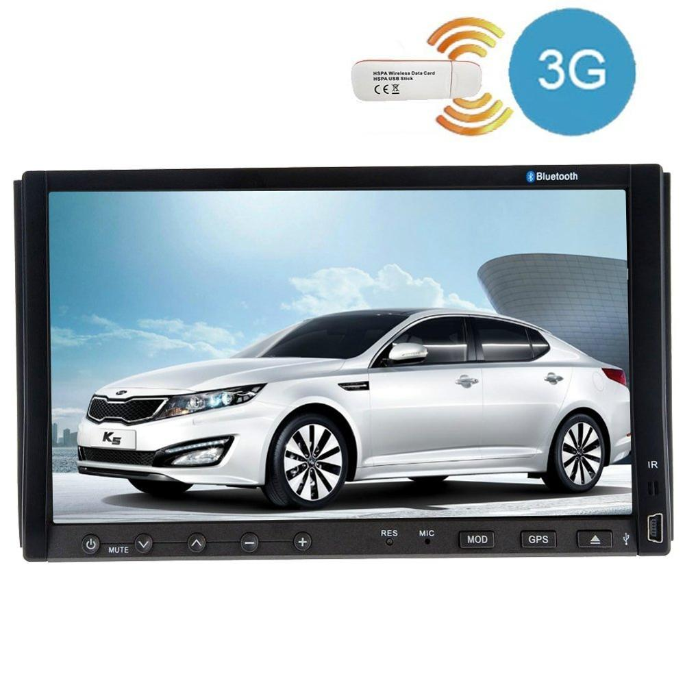 3G internet dongle+7 Inch Double 2 Din Car DVD Player Two Din Auto Video Radio Car GPS Navigation with Bluetooth Audio Stereo web page