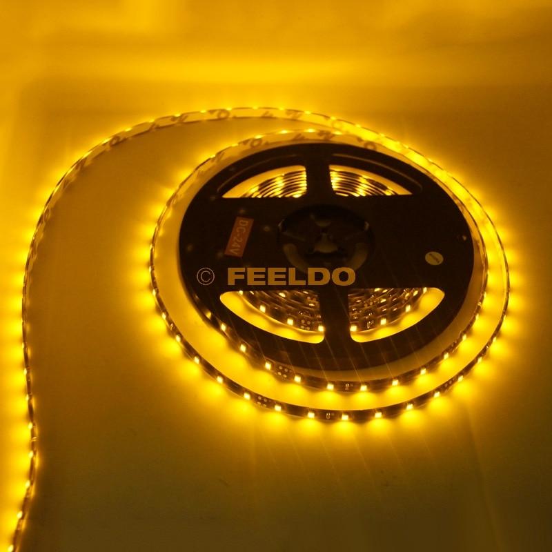 FEELDO 24V 500cm 5 метра 3528 1210 SMD 300 Leds - Автомобилни светлини - Снимка 5