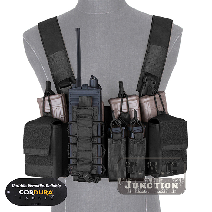Emerson D3CR Disruptive Environments Tactical Chest Rig EmersonGear Combat Airsoft Hunting Vest W/ Mag Multi-Purpose Pouches