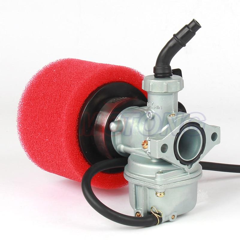Image 2 - Engine PZ22 22mm Carburetor & 38mm Air Filter For Keihin 125cc KAYO Apollo Bosuer xmotos Kandi dirt/pit bikes monkey bikes ATV-in Carburetor from Automobiles & Motorcycles