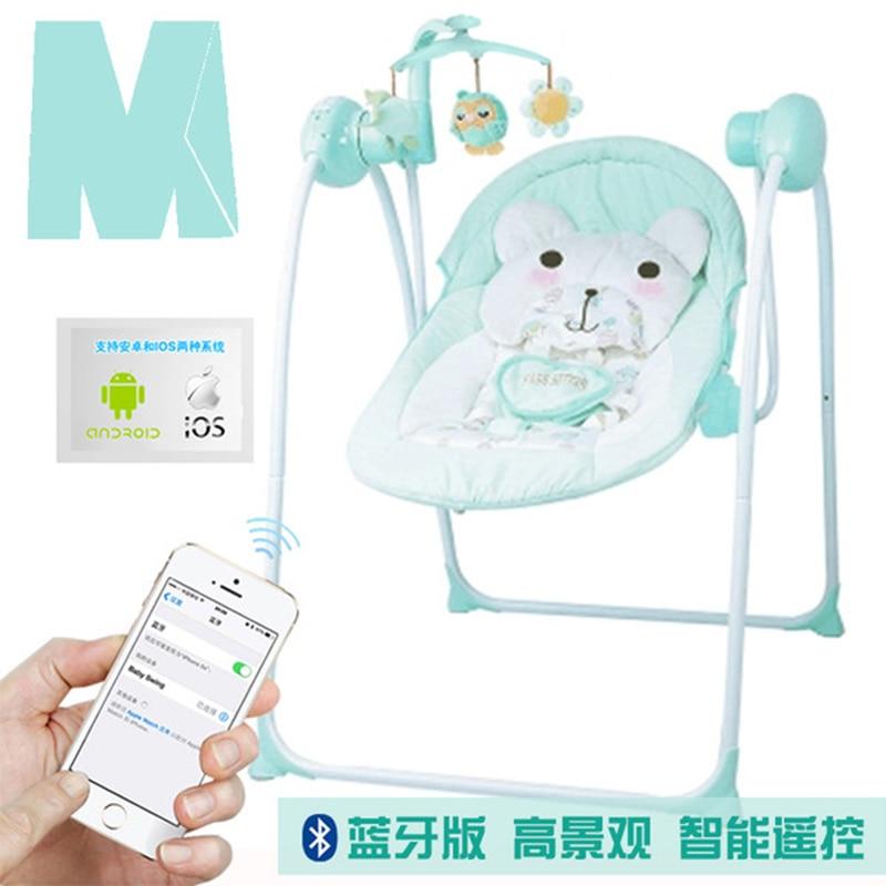 Fauteuil à bascule électrique bébé inclinable multi-fonction bébé berceau lit électrique balançoire chaise bébé électrique fauteuil à bascule
