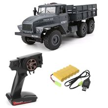 цены RC Truck 1: 12 Simulation Full-size 6 Wheel Drive Soviet Ural Truck Model Off-road Remote Control Car