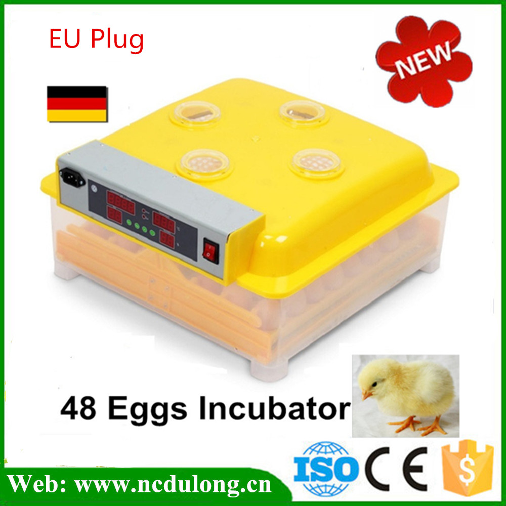 Fully Automatic Egg Incubator 48 Poultry Eggs Incubation Equipment Brooder for Chicken Pigeon Duck CE Approved hatching chicken duck egg incubator 48 eggs incubator automatic incubator poultry incubation equipment