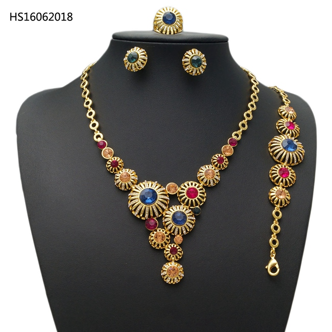 YULAILI Fashion Bridal Gift Nigerian Wedding African Beads Jewelry Set Fashion Dubai Pure Gold Color Accessories yulaili new coming pure yellow flower bridal wedding jewelry set nigerian ladies party wedding accessories