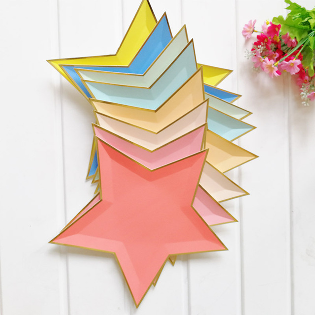 Dozzlor 8Pcs/Lot Novelty Star Shaped Paper Plates Disposable Tableware Wedding Decoration Birthday Party Decorations  sc 1 st  AliExpress.com & Dozzlor 8Pcs/Lot Novelty Star Shaped Paper Plates Disposable ...