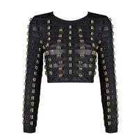 Special Designed Rivet Blouse Women Blusas 2017 2018 New Arrival Women Shirt Full Sleeves Back Zipper