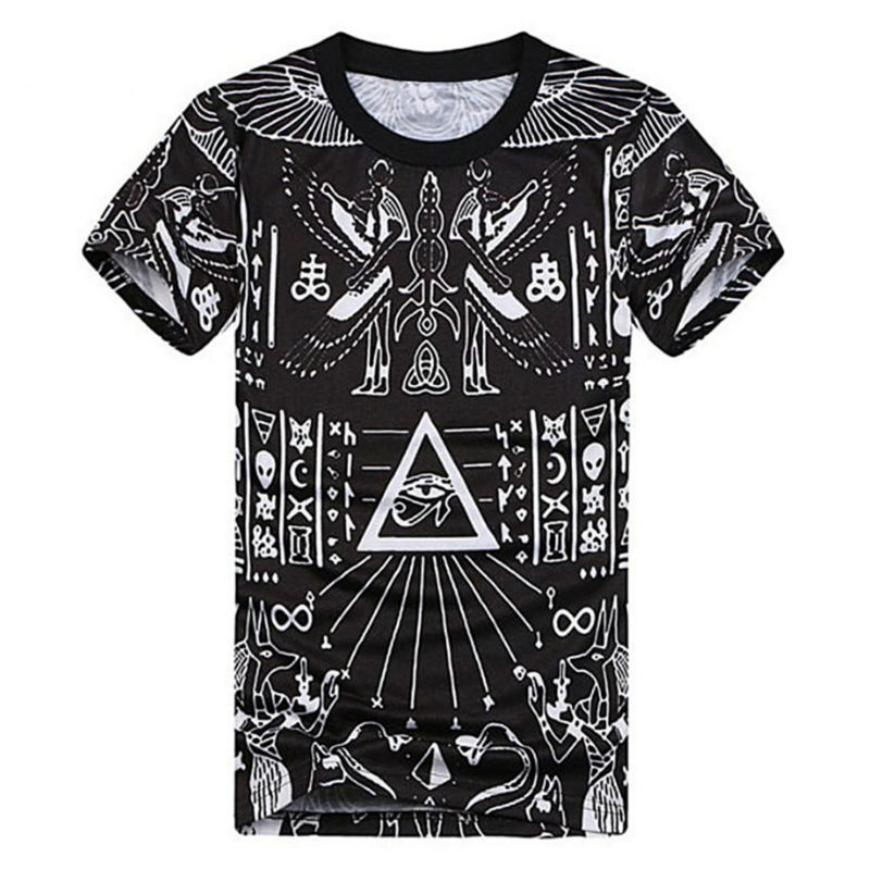 fashion 3d printed t shirts homme cool pyramid graphic. Black Bedroom Furniture Sets. Home Design Ideas