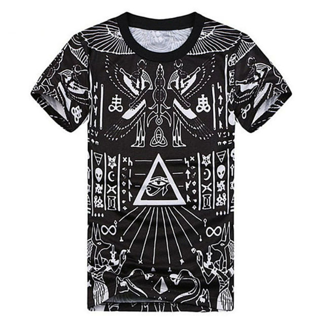 81883103c Fashion 3D Printed T-shirts Homme Cool Pyramid Graphic Tees Hip Hop Style  Comfortable Summer Tops Homme T Shirt Black Camisetas