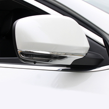 For Renault Kadjar 2015 2016 2017 2018 ABS Car Rearview Mirror Covers Strip Decoration Frame Cover Styling on Rear View Trim