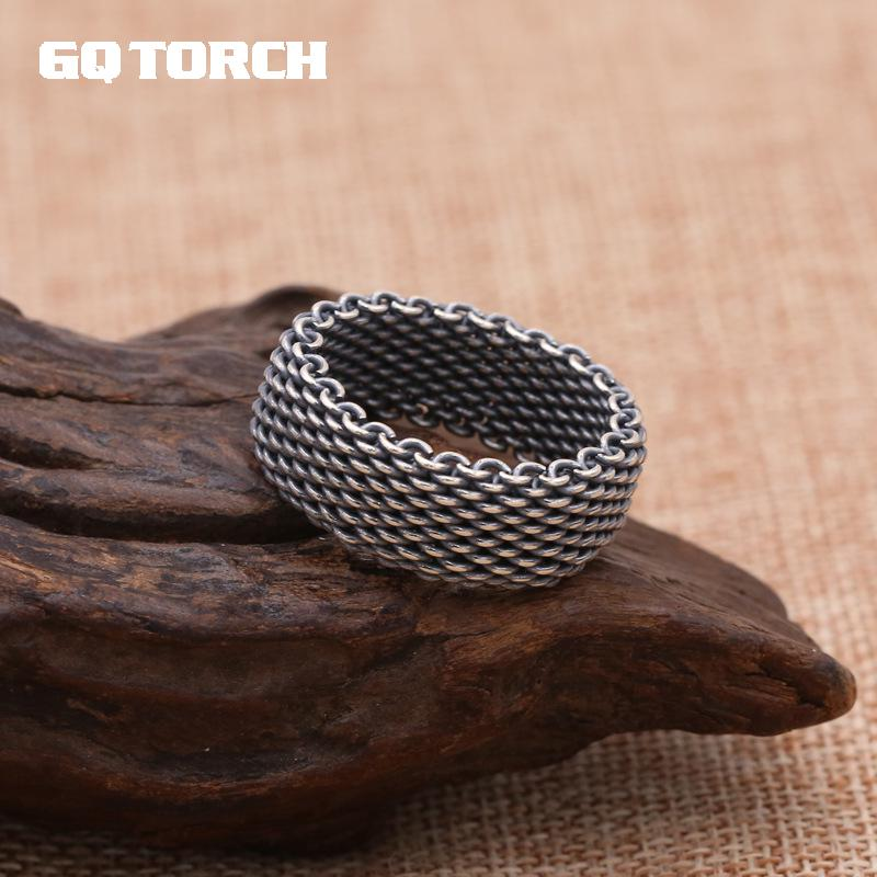 Handmade 925 Sterling Silver Wire Mens Braided Rings Vintage Woven ...