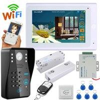 YobangSecurity 7 Inch LCD Monitor Wifi Wireless Video Door Phone Doorbell Camera Intercom KIT With Electronic
