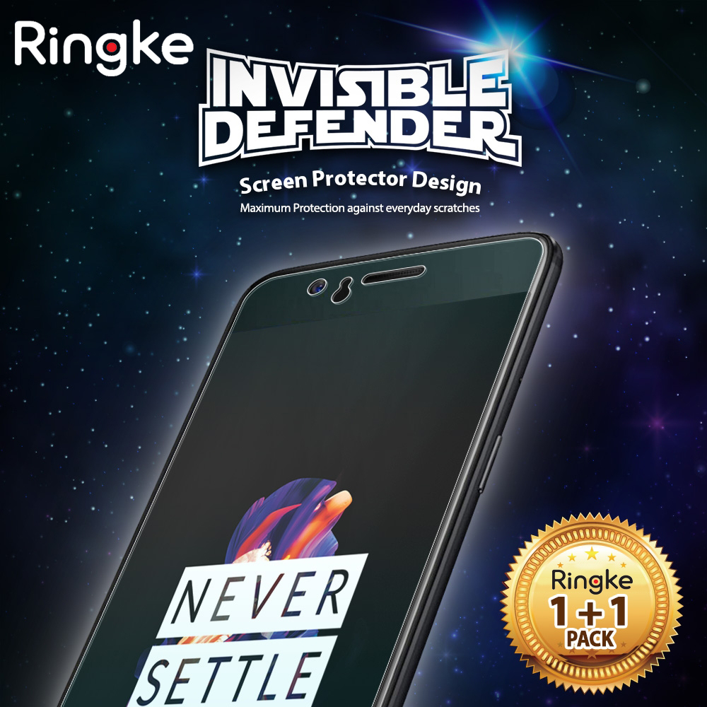 Ringke OnePlus 5 Screen Protector Invisible Defender Full Coverage [2-Pack] Edge to Edge Curved HD Clearness Film for One Plus 5