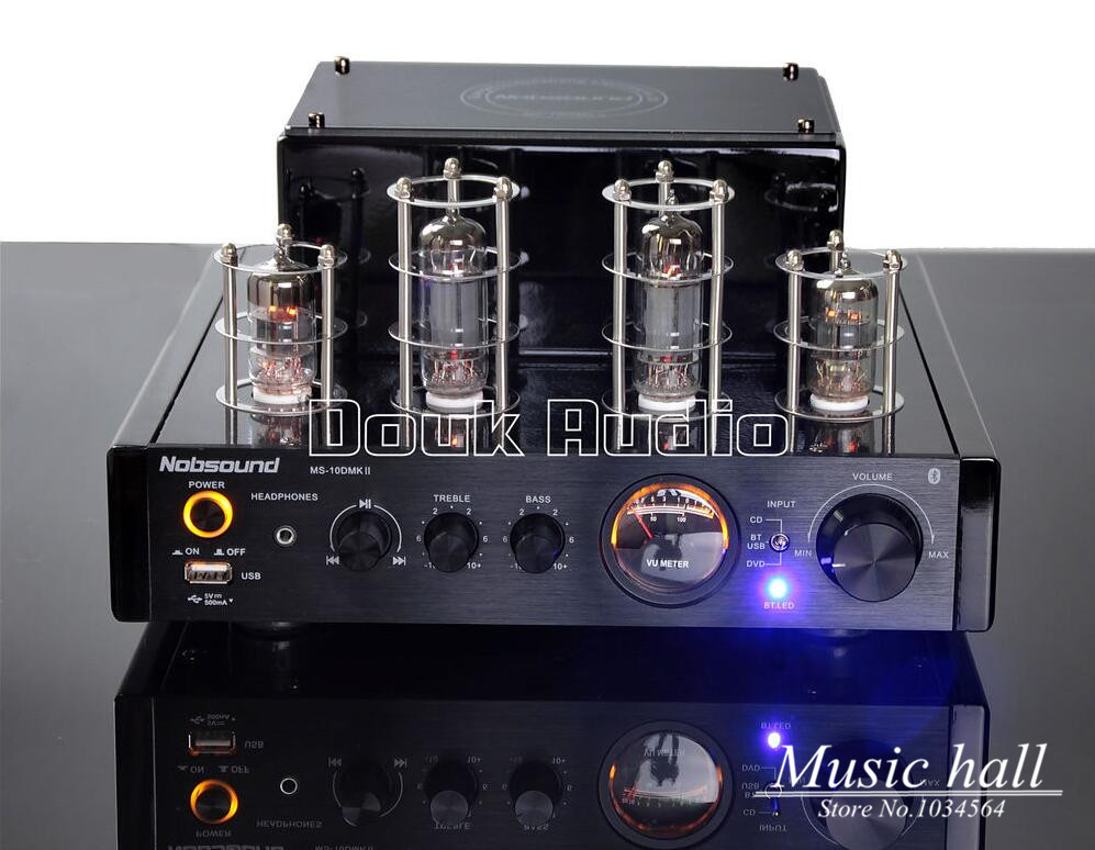 где купить Music hall 2016 NEW  Black Nobsound MS-10D MKII Tube Amplifier With Bluetooth/USB/headphone HIFI Stereo AMP Audio 220V по лучшей цене