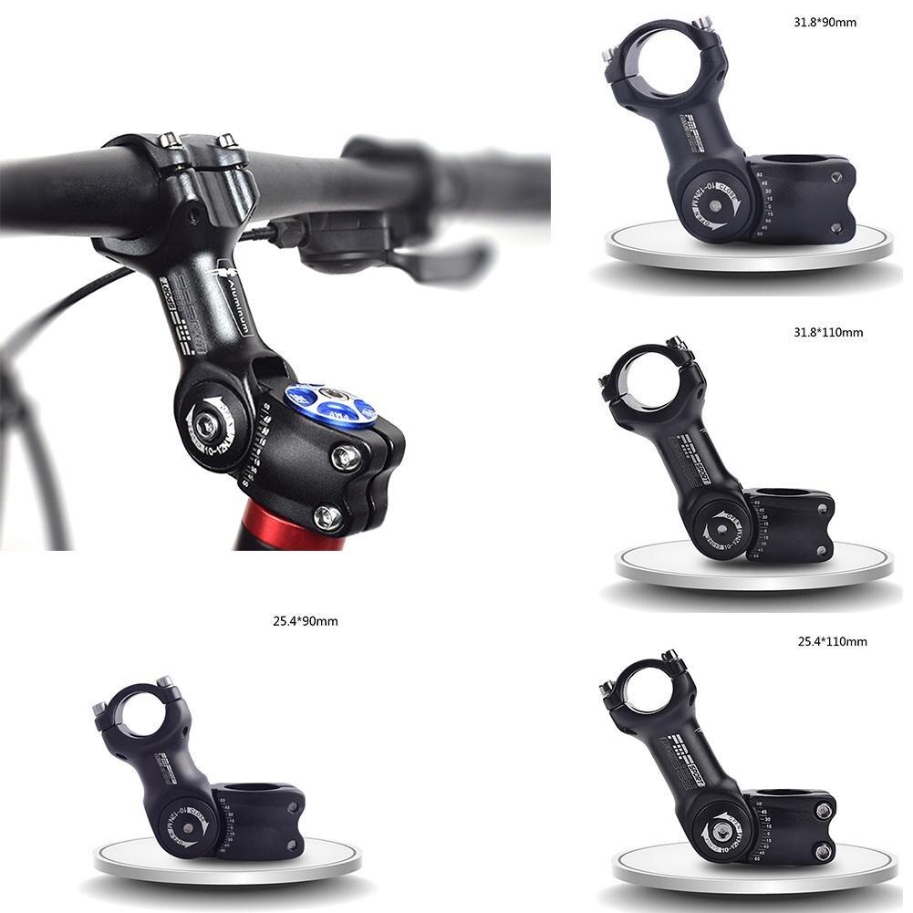 Cycling Bicycle MTB Aluminum Adjustable Handlebar Stem Riser 25.4//31.8*90MM