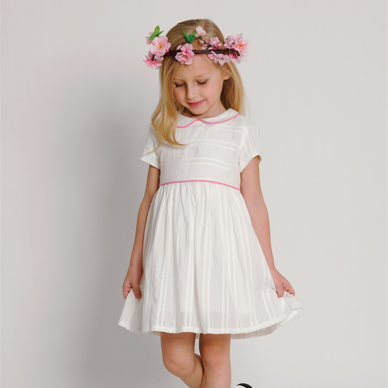 White Girl Fashion: Little Girl Summer White Dress 2016 Baby Girls Clothes