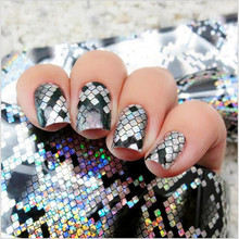 1 Bottle Snake Texture Holographic Starry Nail Foils 4*120cm Manicure Nail Art Transfer Sticker Manicure Nail Accessories