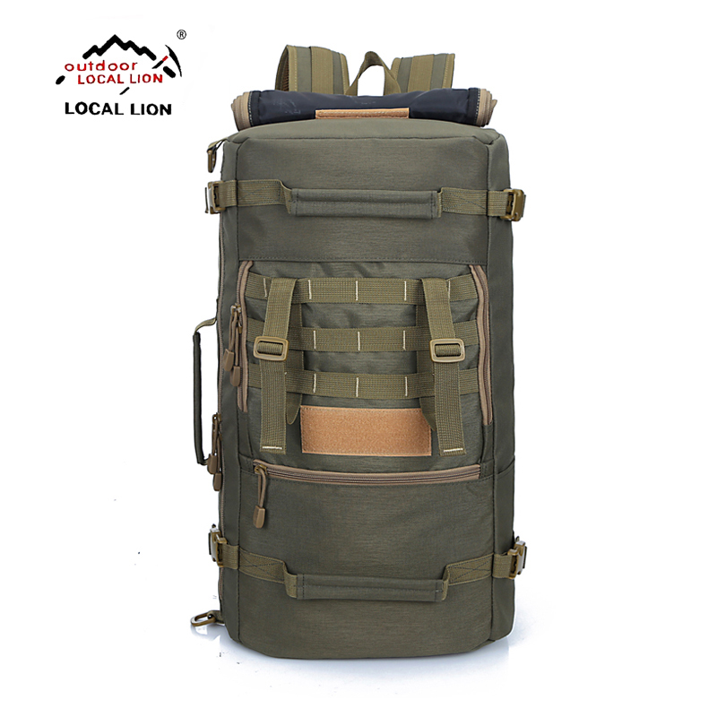 LOCALLION 50L Outdoor Sports bag Backpack Hiking Bag military Camping Travel Climbing Tactical Backpacks Multifunction rucksack locallion 20l unisex bicycling hiking climbing cycling backpack outdoor riding running rucksack sports bag