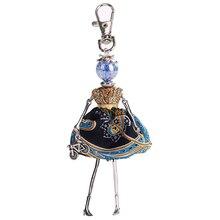 YLWHJJ The new listing baby doll keychain for women cute female princess girl key chain fashion dress jewelry free shipping