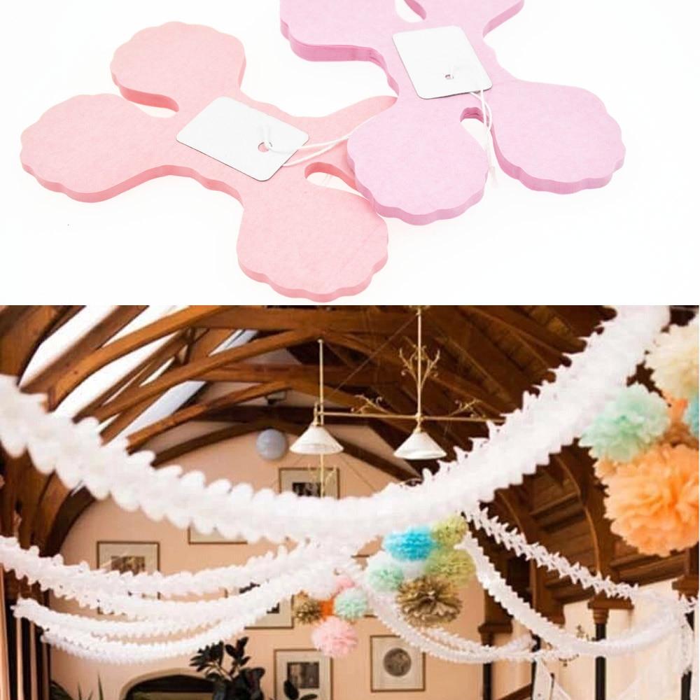 Bryllup dekoration Pink Prinsesse Tema Papir Garland Puff Tissue Have - Varer til ferie og fester - Foto 2
