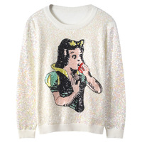 GRUIICEEN sweater women embroidery sequined luxury sweater pullovers knitting long sleeve round neck autumn sweater top