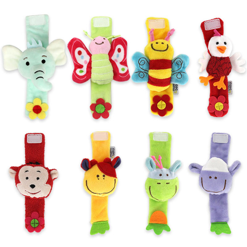 Baby Toys Animal-shaped Soft Wrist Rattles Baby Wrist Band Enlightenment Puzzle Educational Toys For Newborns 0-12 Months