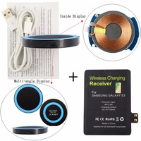 Qi Wireless Charger Pad Wireless Charging Receiver Tag Wireless Charge Stick For Samsung Galaxy S3 I9300