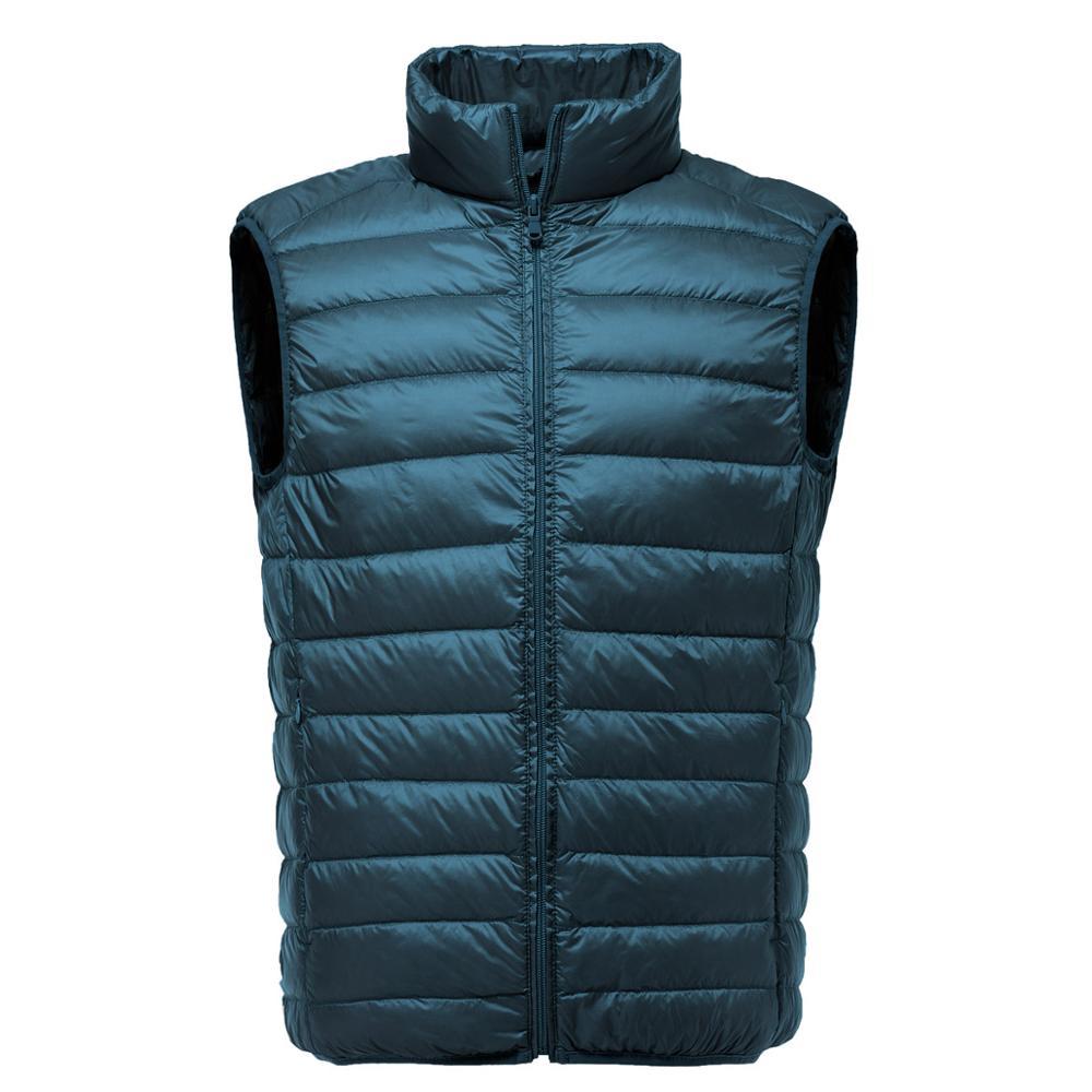 ZOGAA 2019 Men Sleeveless Jacket Winter Ultralight White Duck Down Vest Male Slim Vest Men's Clothes Windproof Warm Waistcoat