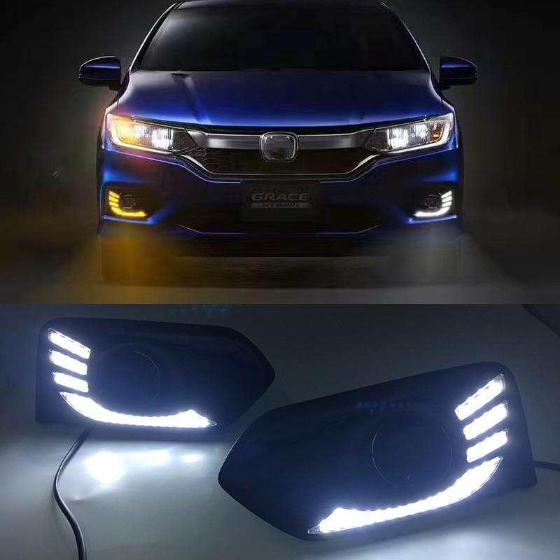 car flashing led drl  honda city   led daytime running light daylight fog lamp cover