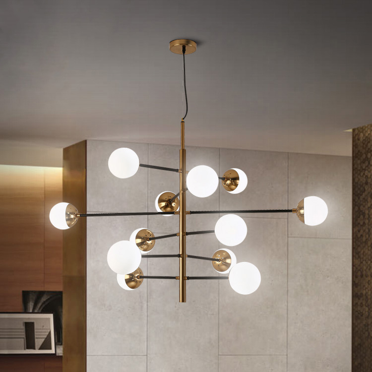 US $133.0 |Nordic Minimalist Led Molecule Chandelier Loft Designer Glass  Ball Kitchen Coffee Shop Led Hanging Light Fixtures Free Shipping-in  Pendant ...