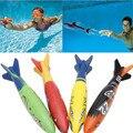 4 Pçs/set Debaixo D' Água Torpedo Foguete Brinquedo Piscina de Natação Swim Dive Varas Férias Jogos De Banho Brinquedos para as crianças menina meninos AY885882